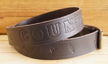 """Buckle riem """"  Country music """"  Donker bruin"""