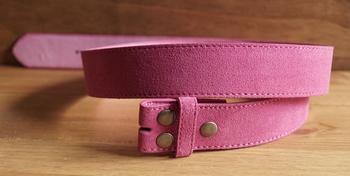 """Suede buckle riem zonder gesp """"  Roze / pink """""""