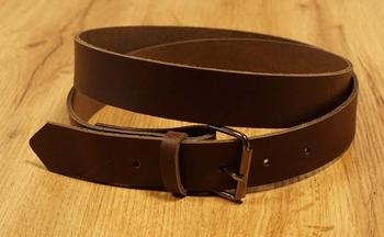 "3 cm brede buckle riem met gesp "" Donker bruin """