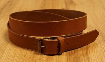 """3 cm brede buckle riem met gesp """"  Licht bruin """""""