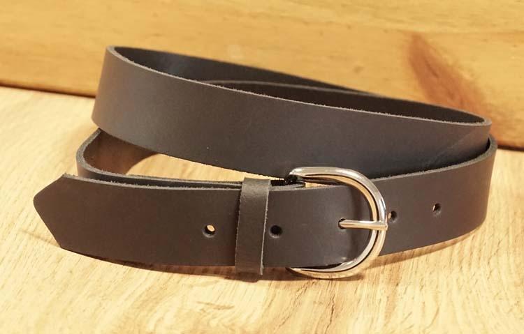 """3 cm brede buckle riem met gesp """"  Zwart """""""