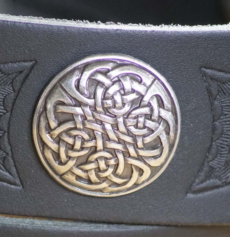 "Buckle riem ""  Keltisch teken ""   Zwart"