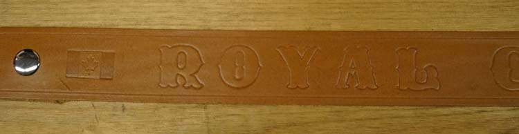 """Buckle riem """"  Royal Canadian mounted police  """"  Beige"""