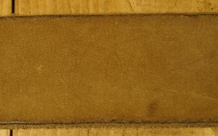 """Leren broekriem  """" Siergesp """"  4 cm breed   Taupe"""