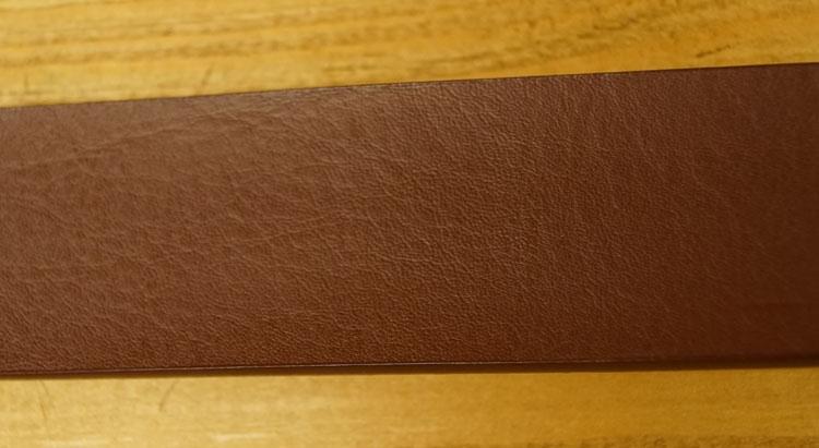 "Leren jeans riem  ""  Donker bruin ""  3,5 cm breed"