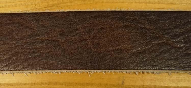"""Leren jeans riem  """" Bruin met structuur  391 """" 4 cm breed"""