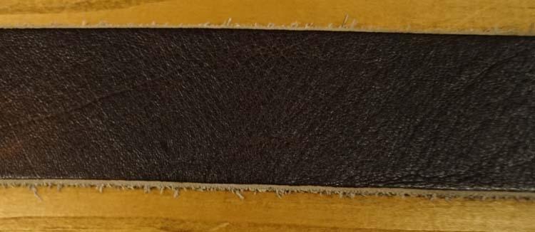 """Leren jeans riem  """" Bruin met structuur 432 """" 4 cm breed"""
