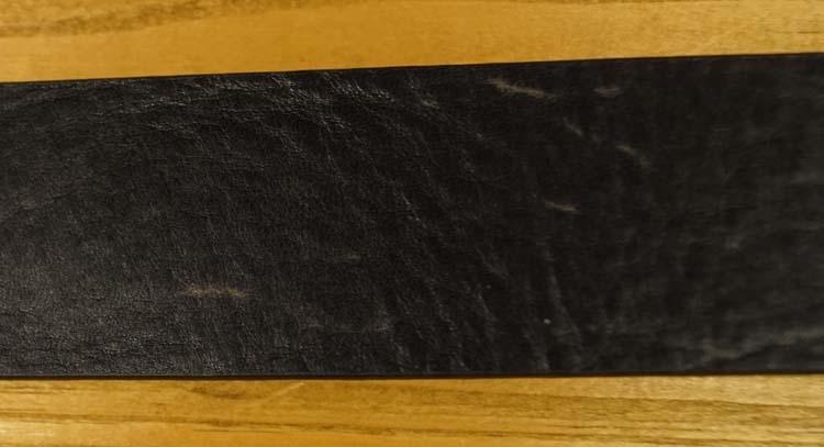 "Leren jeans riem  "" Zwart gevlamd 377 "" 4 cm breed"