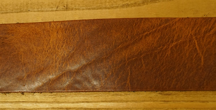 "Leren jeans riem  bruin ""  Structuur ""  4 cm breed"