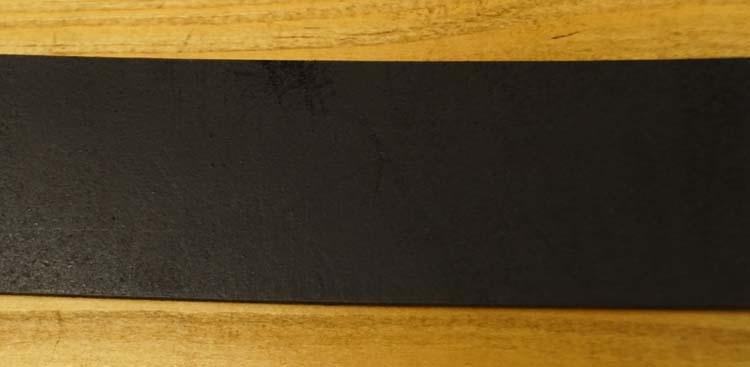 """Leren jeans riem zwart  """" Metalen lusje  """"   4 cm breed"""