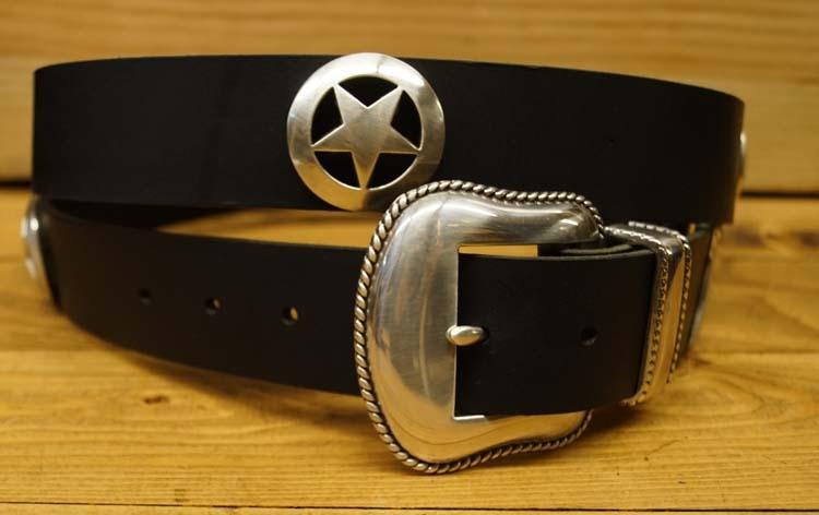 "Marshall star ranger buckle riem  "" Zwart """